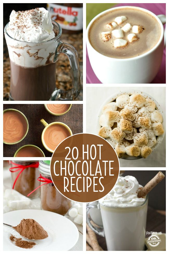 20 {Yummy} Recipes for Hot Chocolate - this list of hot chocolate recipes is so fun!  I can't wait to try all of them.  Is that too much?