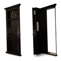 Recent Projects - Pool cue rack secret door by Creative Home Engineering