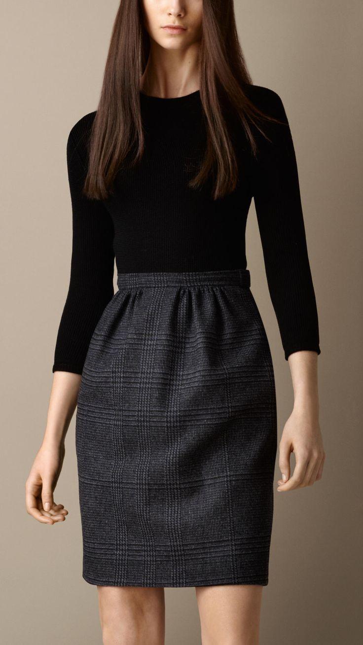 Check Skirt Shift Dress | Burberry