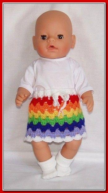 Granny stripe rokje in regenboog kleuren.