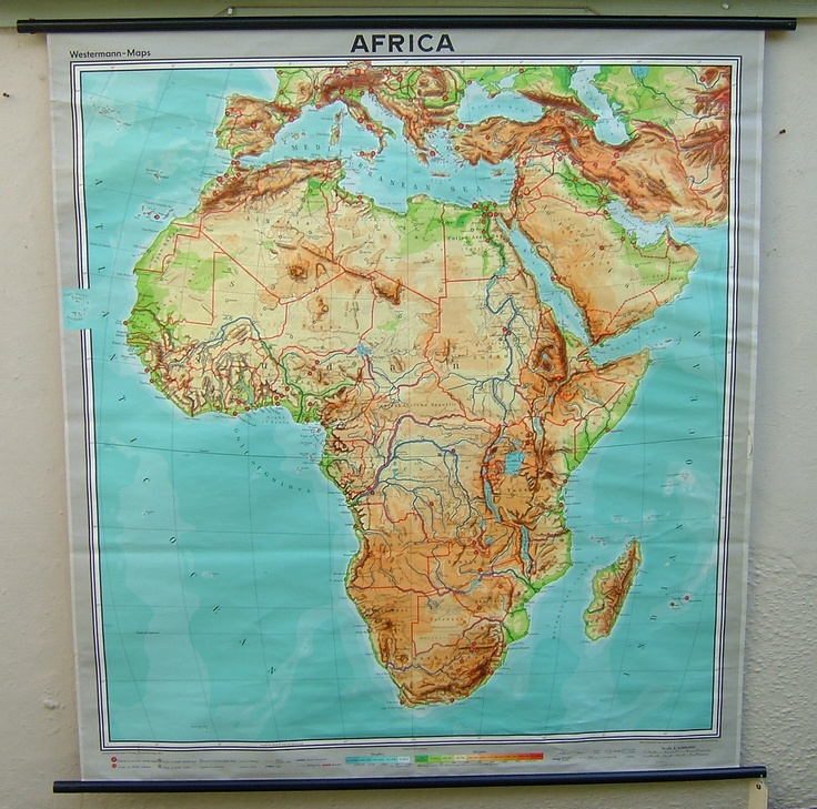 Old School map Africa 11 best Vintage