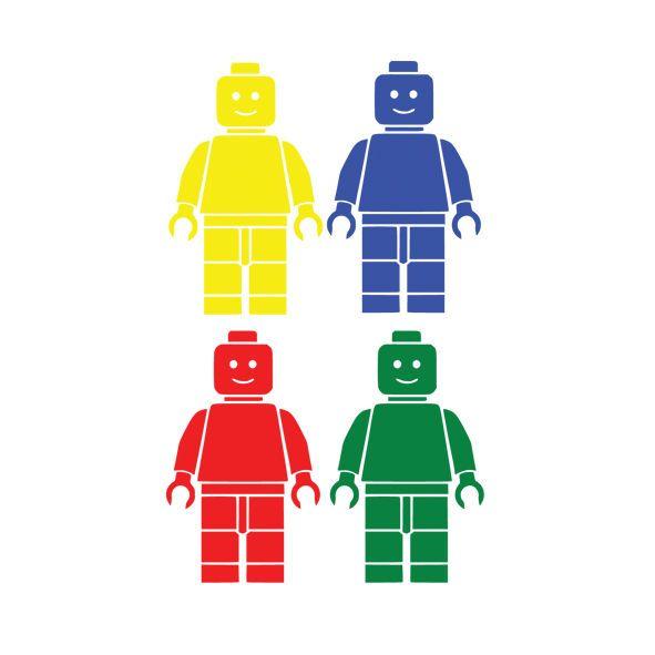 4 x Lego Man Set Children s Vinyl Wall Art Sticker Decal Bedroom Home Decor 016