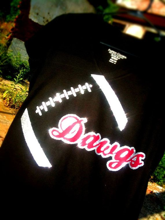 Custom football shirt bulldogs dawgs football by Rocknmamadesigns