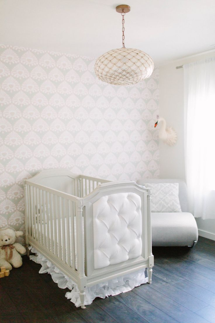 Dreamy nursery | Photography : Meg Perotti Read More on SMP: http://www.stylemepretty.com/living/2016/07/08/this-is-quite-possibly-the-dreamiest-nursery-weve-ever-seen/