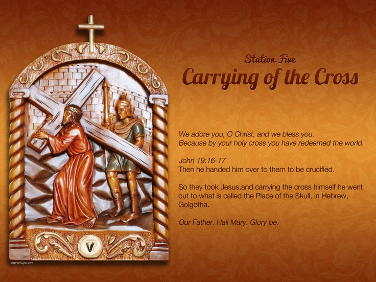 Station 5 of the Way of the Cross (Via Crucis) Lapsed