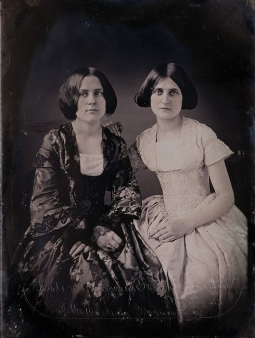 """""""Spiritual Mediums"""" Kate and Maggie Fox, 1852. The Fox sisters were instrumental in the creation of spiritualism."""