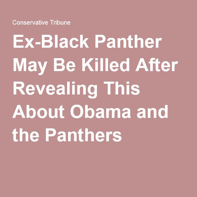 Ex-Black Panther May Be Killed After Revealing This About Obama and the Panthers