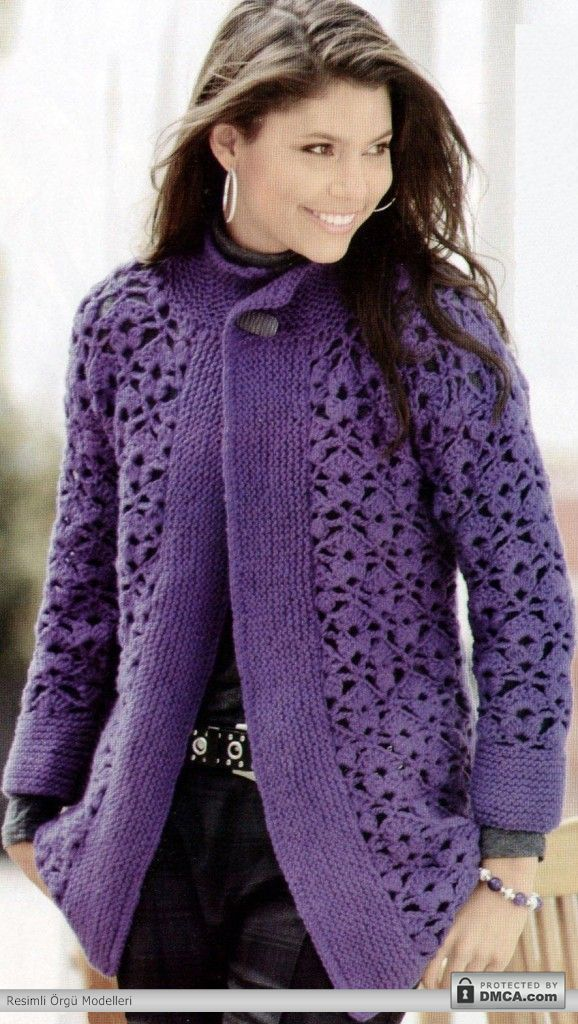 Eflatun rengi bayan hırka modelleriCrochet Blouse, Crochet Dreams, Grape Crochet, Al Crochet, Crochet Wearable, Crochet Adult, Crochet Pattern, Crochet Clothing, Crochet Cardigans