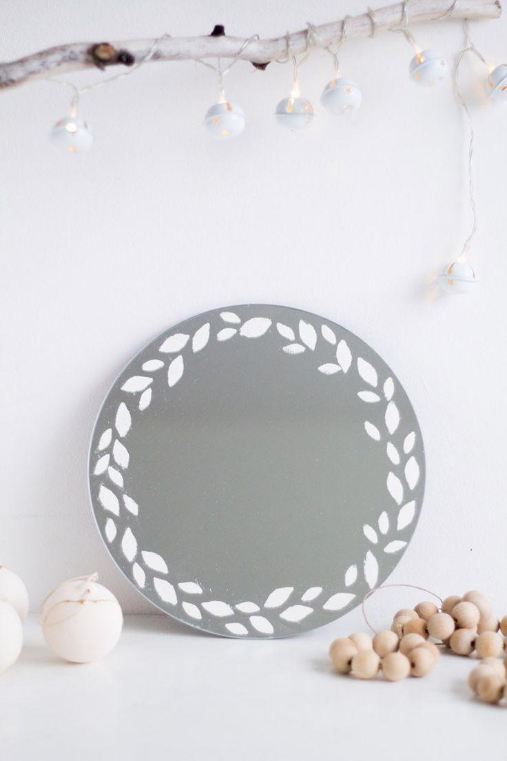 DIY Embossed Mirror Wreath-13