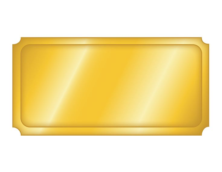 Gold Movie Ticket Blank Clipart TICKETS, BORDING PASS, COUPONS - blank ticket