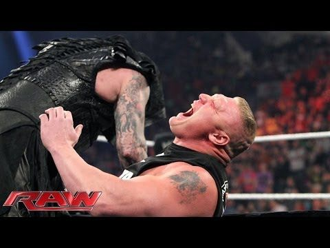 ▶ Seth Rollins vs Brock Lesnar - WWE World Heavyweight Championship Match: Raw, March 30, 2015 - YouTube
