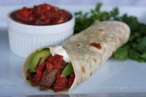 Southwestern Beef Wraps   AllFreeSlowCookerRecipes.com