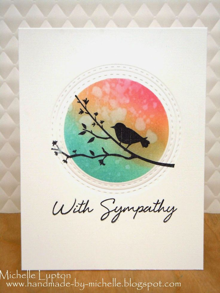 Lovely Sympathy Card design. Handmade by Michelle: MUSE challenge