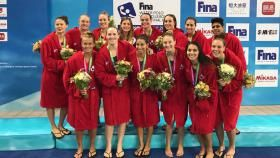 The Canadian women won silver in the Super League final of the World Water Polo League on Sunday in Shanghai,...