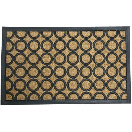 """Tranquil Pattern"" Rubber Coco Door Mat - 18"" x 30"" Outdoor Doormat by Rubber-Cal. $17.45. Use this coco doormat to keep dirt, mud and moisture off of interior floors. A rubber coir door mat made with recycled rubber and coconut fiber. Simply wipe or rinse this recycled rubber mat for easy cleaning!. This non slip doormat is a cheap, unique doorway decoration for any home!. Rubber door mats ideal for use in residential doorways. Our rubber door mats are made with r..."