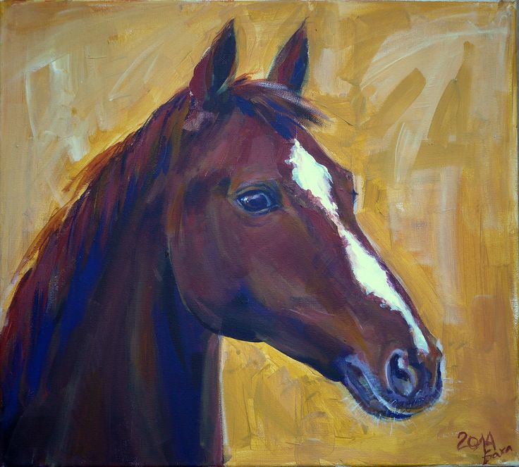 #art #acryliconcanvas #horse #friend #yellow