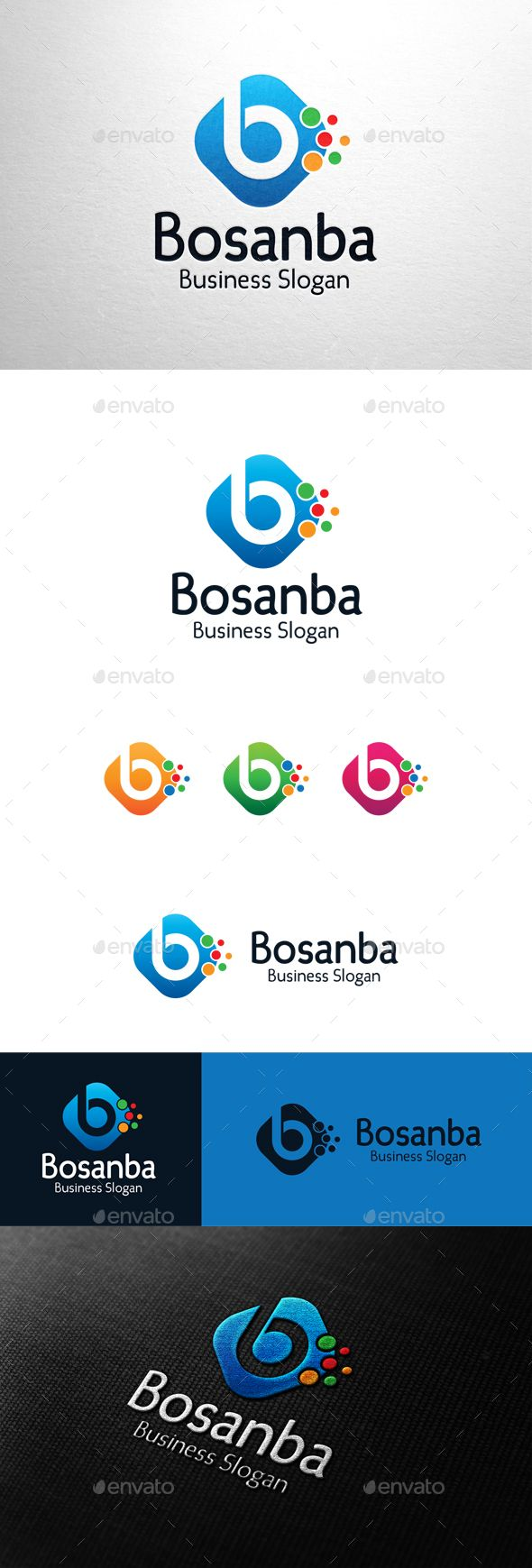 Bosanba, Letter B Logo — Photoshop PSD #d logo #bubble • Available here → https://graphicriver.net/item/bosanba-letter-b-logo/16837267?ref=pxcr