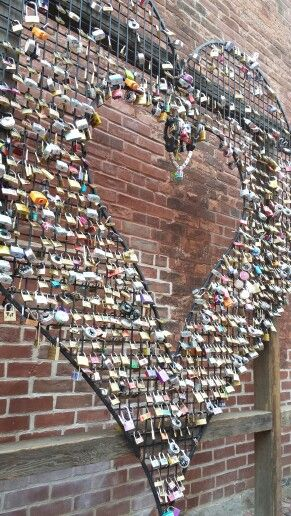 Padlock(s) heart, Distillery District, Toronto