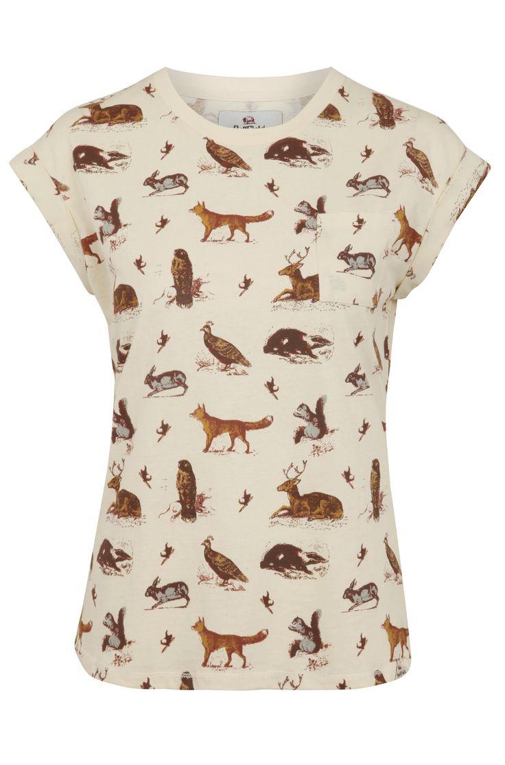 Bellfield Kirkwood Woodland Animal Print Tee, $29.51