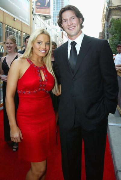 Wrestler Trish Stratus and Shane Doan of the Phoenix Coyotes arrive to the 2007 NHL Awards at the Elgin Theatre on June 14 2007 in Toronto Ontario