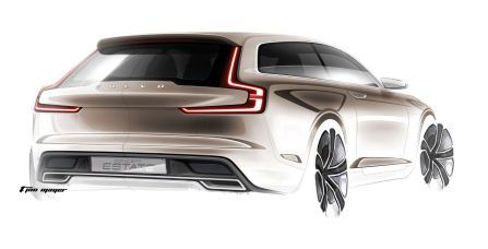 Volvo Concept Estate exterior sketch