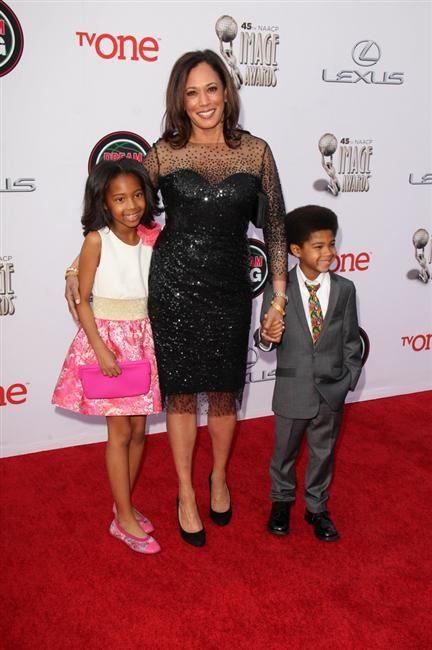 Attorney General Kamala Harris and children: