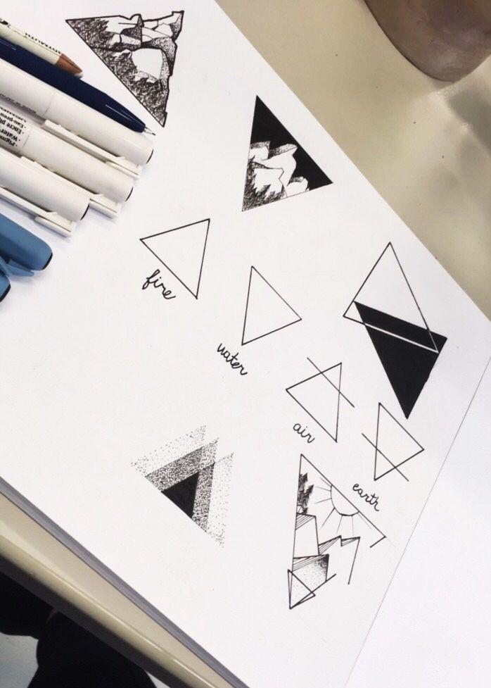 tattoo designs triangle @katekallinn