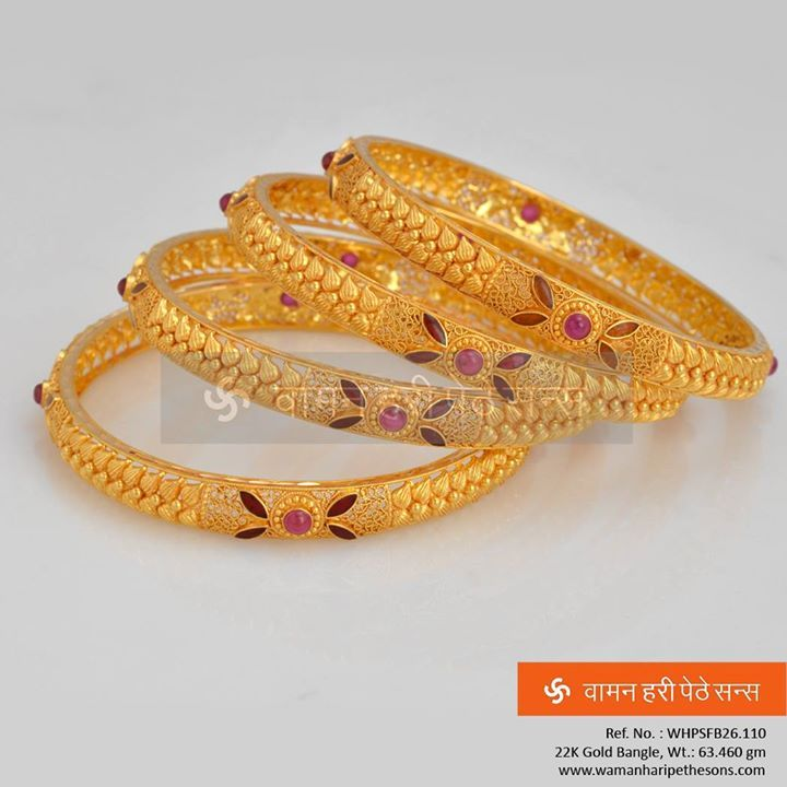 84 best Golden Kadhas/ Bangles images on Pinterest | Diamond ...