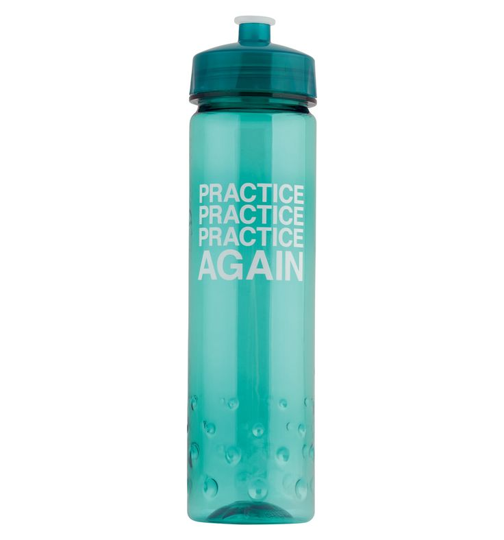 """""""Practice, Practice, Practice"""" Water Bottle - Style Number: FP036 Because you can never have too many water bottles! #discountdance #greatgifts"""