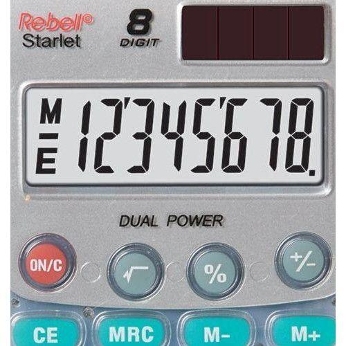 Rebell Starlet napelemes zsebszámológép 8 számjegyes, 3 év garancia! Ezüst szürke Ft Ár 1,490