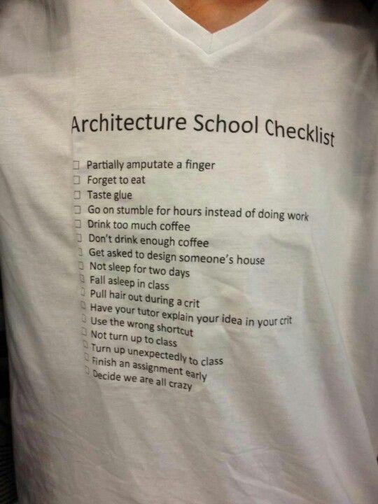 Checklist For Architecture StudentsIm An Interior Design Student But I