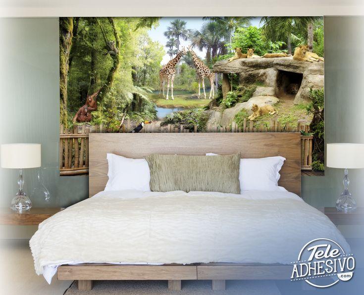 Fotomurales: Animales de la selva #fotomural #mural #pared #decoracion #deco #TeleAdhesivo