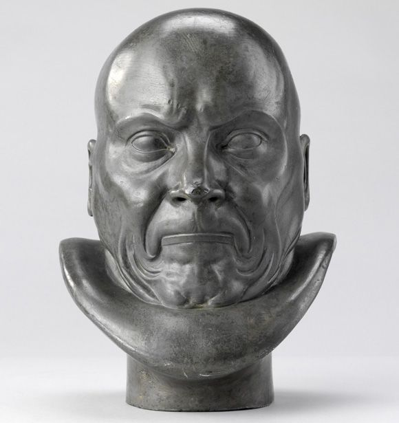 Franz Xaver Messerschmidt, Afflicted with Constipation, 1771–83, lead-tin cast.