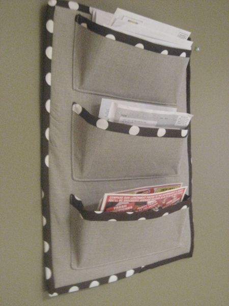 fabric mail sorter or letter holder