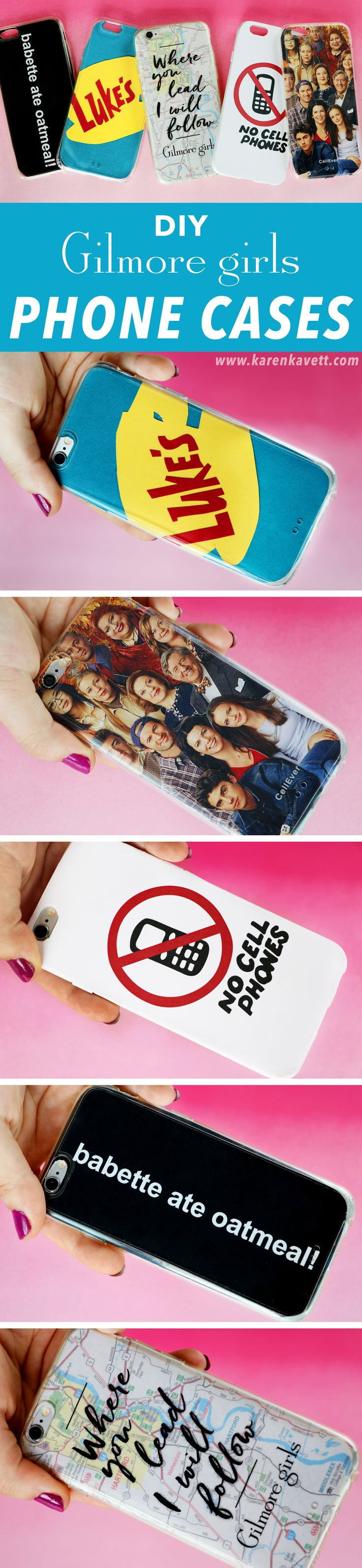 5 DIY Gilmore Girls Phone Cases & Free Printables | @karenkavett