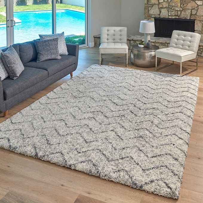 Lenox Super Lush Shag Area Rug Anzio Cream Gray In 2020 Shag Area Rug Plush Area Rugs Rugs In Living Room
