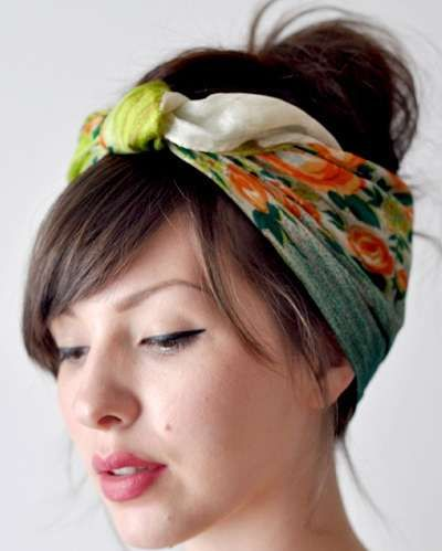 Spring and Summer are all about hair accessories. Turn your beloved scarves into a fashionable head accessory for a fun look.