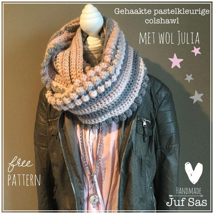 Vlog 3: Gehaakte pastelkleurige kol/col/colshawl met wol Julia van Zeeman