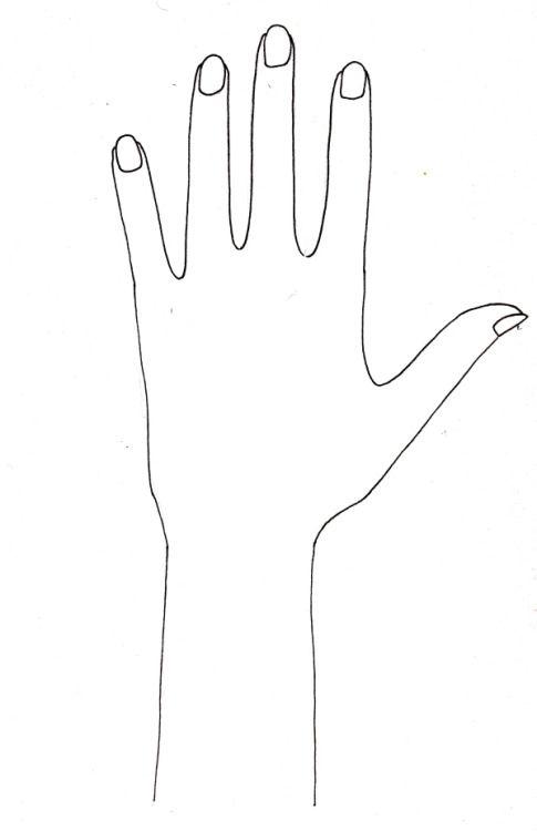 Mehndi Hand Outline : Henna hand outline makedes