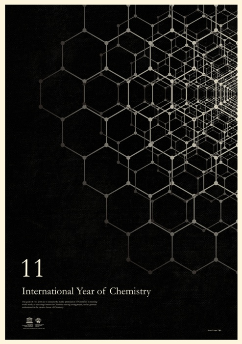 International Year of Chemistry-Graphic designer and illustrator Simon C. Page produced a series of beautiful posters inspired by chemists and their contributions to humankind
