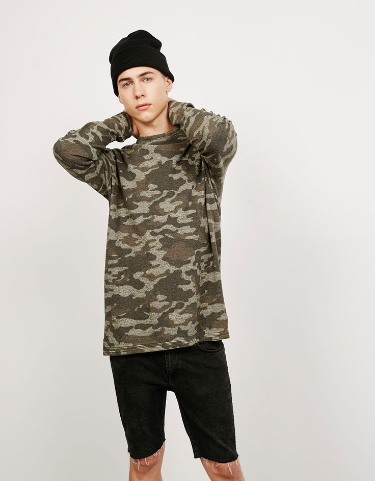 Bershka United Kingdom - Camouflage jumper