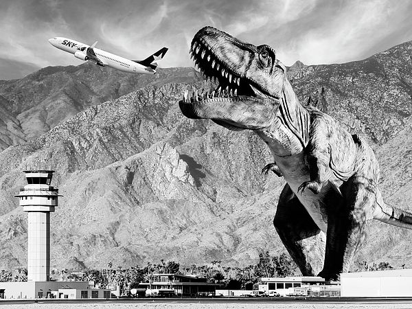 """#Airplane Food Black and White"" by William Dey #dinosaur #fantasy"