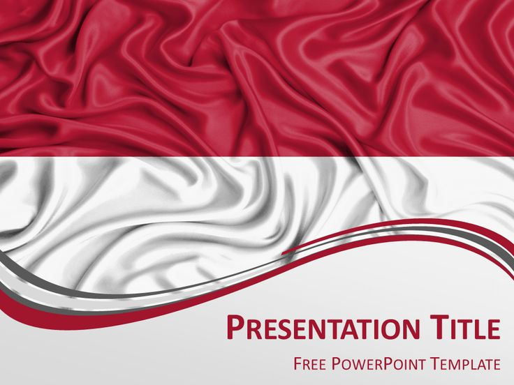 Free PowerPoint template with flag of Indonesia background