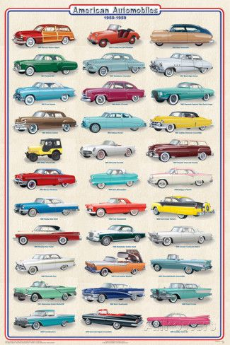 American Autos 1950-1959 Plakater hos AllPosters.no