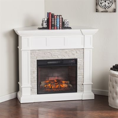 Boston Loft Furnishings Ryland Infrared Electric Fireplace with Convertible Corner