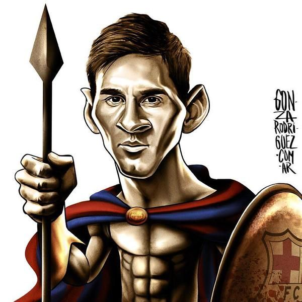 599. Caricature: Messi #fcblive [by @_GonzaRodriguez via @messistats]