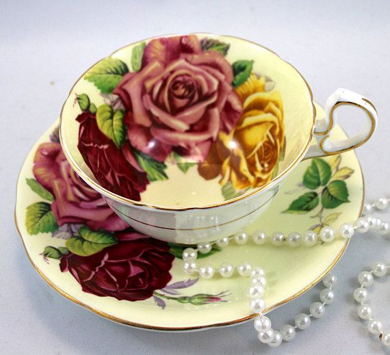 Gorgeous Aynsley Duo Triple-Color Large Roses Gold Rims