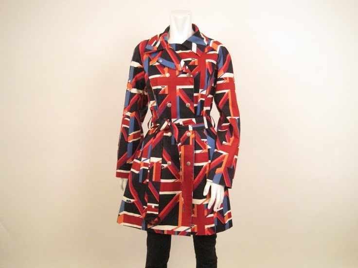 Mary Quant  London Union Jack Trench. Retail-$165, HW-$85.
