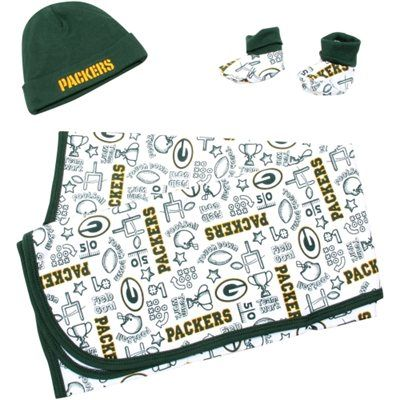 Green Bay Packers Baby Accessory Set - Green/White