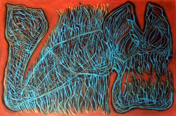 """""""Mostro morte"""" 2014 Tecnica mista su cartoncino 38x58 ©Pietro Gargano"""